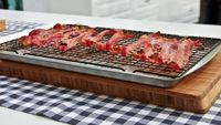 Parchment-Lined Baking Sheet With Rack