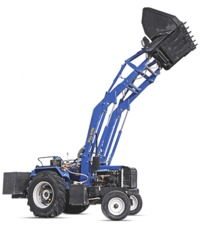 The Bull ultra-loader can handle 600-800kgs in one go. It has lift height of 15 feet.