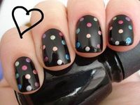 not a big black nail polish fan - but this is adorable!