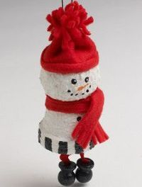 Your little ones can be as cozy as this adorable Snuggly Snowman Ornament when you craft inside during the winter months. Homemade Christmas ornaments are great