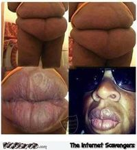 Ugly belly looks like Jay Z's lips meme #funny #humor #lol #funnypicture #pmslweb