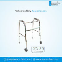 Folding Walker With Seat - Help your old parents to take tiny steps using walker and give them a chance to walk easily again! Kosmochem showcases wide variety of walkers for elderly which are foldable, carry wheels either 2 or 4, rolling walker with seat ...