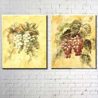 Grapes Hand Painted On Canvas Still Life Oil Painting