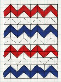 Zig-Zag-Quilt-Quilted - Half Square Triangle tutorial for a zig zag quilt