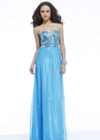 Turquoise Sequin Cutout Long Prom Dresses Cheap