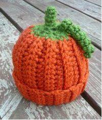 Baby Pumpkin Crochet Beanie | FaveCrafts.com