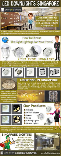 Visit our site http://www.lightsnshowers.sg/lighting/lights-n-led-strips/ for more information on Lightings In Singapore.Led Lighting Singapore are very much beneficial to use. They are low on power consumption and last longer. They can produce and equal ...