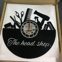 Custom Gift for Salon Vinyl Record Clock https://www.gullei.com/custom-gift-for-salon-vinyl-record-clock.html