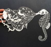 12 Intricate Paper Artworks Cut by Hand Artwork by MAUDE WHITE
