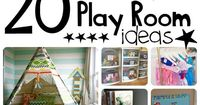 Back when I was little, my mom could have used these 20 Brilliant Play Room Ideas. Don't get me wrong, we had a lot of fun but we (and our toys) were always und