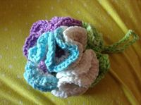 How to Crochet a Bath Puff. This bath puff looks intricate, but all the curlicues happen naturally from a very simple pattern. Once you get started, it's very e