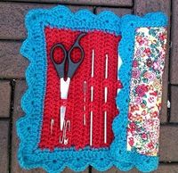 crochet needle bag, I need one of these!!