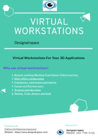In a virtual workstation you can run your CAD and BIM software on third-party cloud servers. Design with any 3D CAD or BIM application from any device, anywhere with Designairspace.