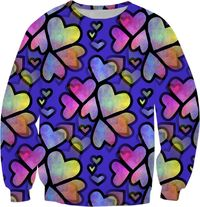 Rainbow Hearts Sweatshirt $59.95