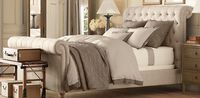 Chesterfield Panel Bed - Restoration Hardware. love the neutral palette
