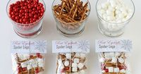 Halloween Party Favours - Rat Eyeballs, Spider Legs & Ghost Poop - red candies, pretzels and marshmallows - Love, Love, Love it!