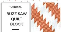 Watch how to make a buzzsaw quilt block also called delectable mountains block in 2 minutes Buzzsaw or delectable mountains blocks These 2 pieces are obtained w