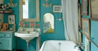 Love the vintage look of this bathroom. Reminds me of something that would have been in my great grandmother's house.