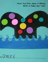 Have you ever seen a whale with a polka dot tail? Nancy Nolan's Kindergarten: Letter W Week: Worms, Wild Things, Wishy Washy, Whales