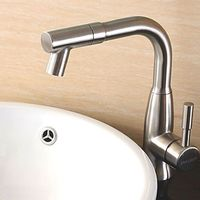Stainless Steel Rotatable Hot and Cold Water Basin Bathroom Sink Faucet