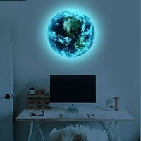 blue earth Cartoon DIY 3d Wall Stickers for kids rooms bedroom wall sticker $4.18