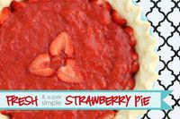 strawberry pie, strawberry pie fillings and strawberry pie recipes.