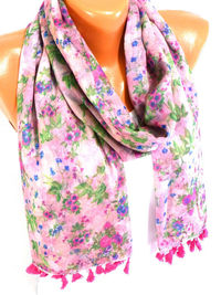Scarf, Shawl, Flowered Scarf, Womens Fashion Accessories, Flower printed scarf, Lightweight Summer Scarf, Spring Scarf, Gifts for Christmas $16.50