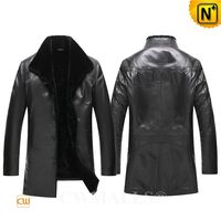 CWMALLS® Anchorage Designer Shearling Lined Leather Coat CW807803[Patented Product, Global Free Shipping]