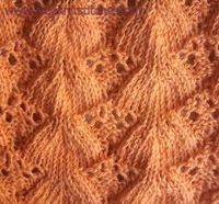 Simple lace knitting pattern Fantail
