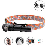 XANES XML-T6 1500Lumens 3Modes LED Headlamp Flashlight Rechargeable Zoomable Magnetic Work Light