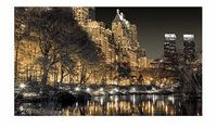 Bhs Studio Collection New York at night hand Framed print featuring a magical photograph of New York at night by Assaf Frank. A beautiful statement to add to your living space, the piece also features a gel resin with a touch of glitter, applied http://ww...