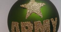 Personalized US Army Glass Ball Ornament by GlitterOrnaments, $18.00