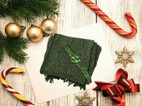 2 Piece Set- Green Scarf with Silver Threads (Size 170x20 Cm) AND STRADA beautiful easy to read green watch    Perfect gift to match someones green eyes maybe , green scarf with glitter effect and matching watch makes for great value and is bot...