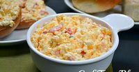 Homemade pimento cheese from cafeterrablog.com