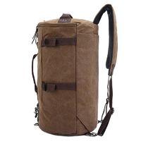 SLBP Large Capacity Travel Mountaineering Backpack Bags Canvas Bucket Shoulder Bag $42.99