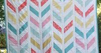 Herringbone Quilt Pattern - I want to make one like this but with water marbled fabric