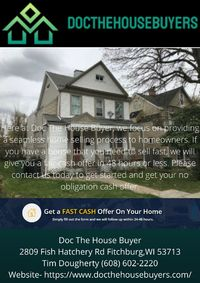 Here at Doc The House Buyer, we focus on providing a seamless home selling process to homeowners. If you have a house that you need to sell fast, we will give you a fair cash offer in 48 hours or less. Please contact us today to get started and get your n...