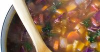 "Fall Harvest Soup- a delicious vegan soup that's loaded with fall veggies such as carrots, butternut squash, and kale. The perfect light and healthy comfort soup for cooler weather! �""' bbritnell.com"