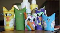 WhiMSy love: Summer Diary Day 24: Cardboard Tube Owlie