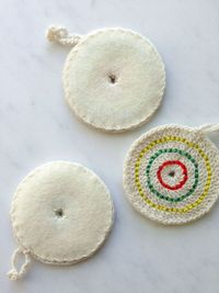 Whit's Knits: Crochet Candy Ornaments - The Purl Bee - Knitting Crochet Sewing Embroidery Crafts Patterns and Ideas!