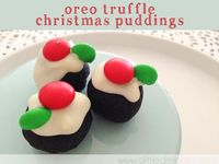 a little delightful: {recipe} easy oreo truffle christmas pudding