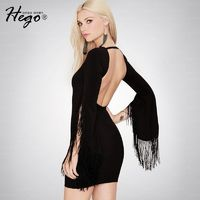 Night Club Sexy Open Back Attractive Fringe Slimming Spring Formal Wear Dress - Bonny YZOZO Boutique Store