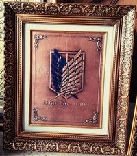 Shingeki no Kyojin relief copper wall art �'�76.00