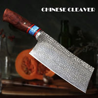 Hand forged Chinese Cleaver VG10 Damascus Steel Chef Kitchen Knives $279.00
