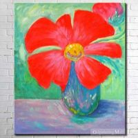 Bloom Modern Flowers Oil Painting On Canvas Hand-painted