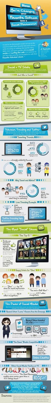 Fun infographic explaining the consumer trend of social TV