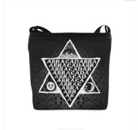 """Abracadabra Shoulder Sling Bag. Single zippered top closure. The interior of this shoulder bag have 2 interior pockets and 2 zipper pockets. The strap is fully adjustable for a comfortable fit cross body or on the shoulder. Approx. dimensions: 11.8""""&..."""
