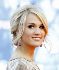 Carrie Underwood Messy Updo Hairstyle