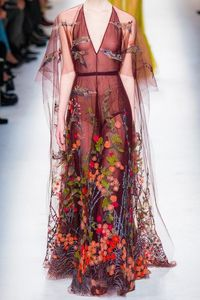 This Valentino is basically what Demeter would wear to an event, as it contains ALL OF NATURE.
