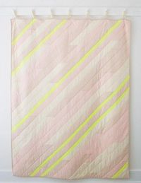 Diagonal Stripe Quilt | The Purl Bee